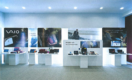 In-store koncept prezentovaný na dealerské konferenci SONY SCSE