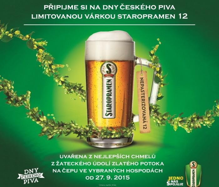 TZ   Limitovaná nepasterizovaná Staropramen dvanáctka je připravena na Dny českého piva