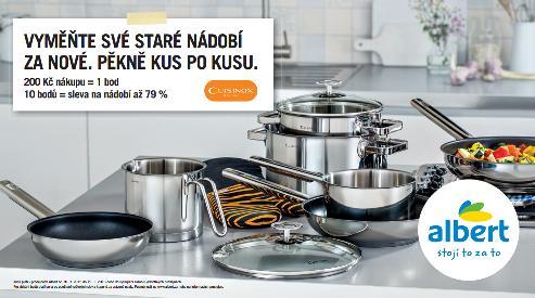Albert v nové kampani nabízí nádobí francouzské značky Cuisinox