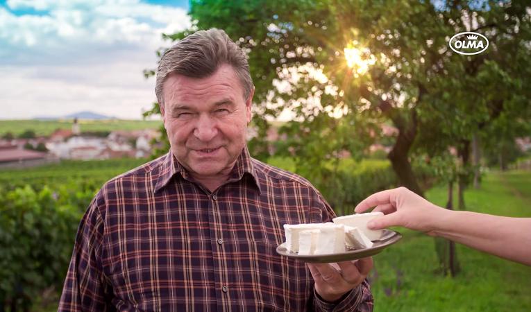 Tváří kampaně sýru Olmín je Václav Postránecký