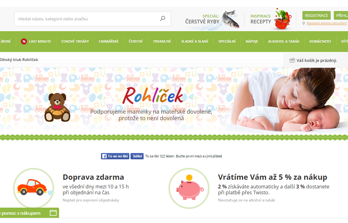 Rohlik.cz spustil věrnostní program Rohlíček