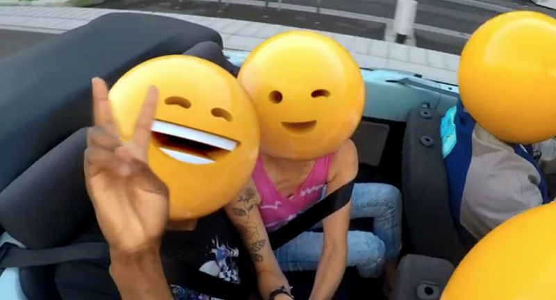 hapy in car - small