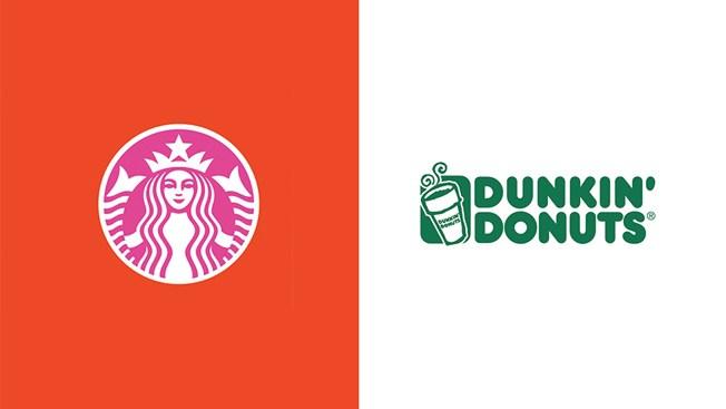 1 - Starbucks Dunkin