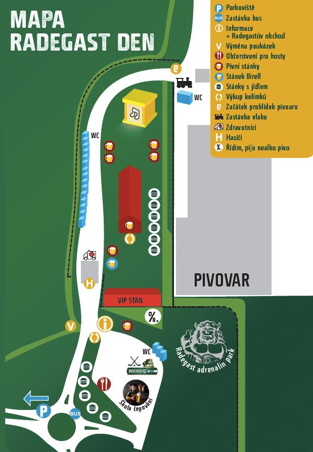 mapa Radegast den