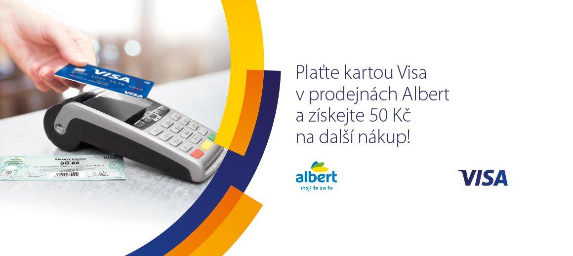 Visa Spousti V Prodejnach Albert Kampan Na Podporu Plateb Kartou