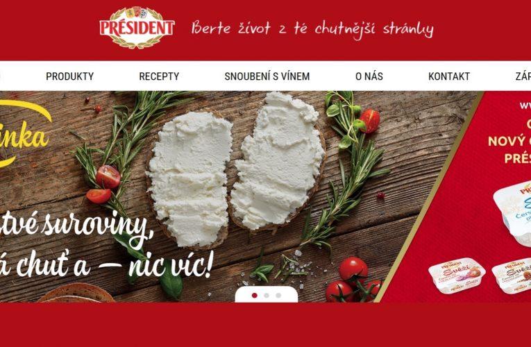Značka Président spustila nové webové stránky