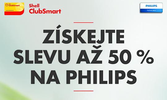 Předvánoční akce na pumpách SHELL sníží produkty PHILIPS až o 50%
