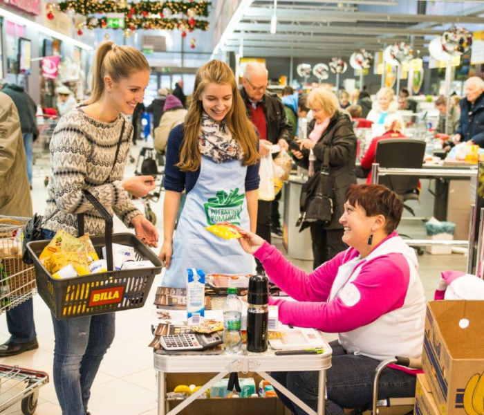 BILLA vybrala do Národní potravinové sbírky více než 13 tun jídla