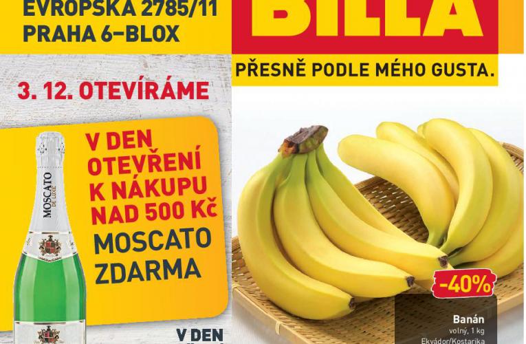 """BILLA se vrací na pražský """"Kulaťák"""" – na Praze 6 otevře novou prodejnu kvalitních a čerstvých potravin"""