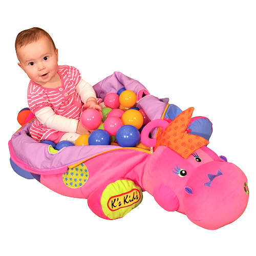 růžová dinosauřice s míčky K´S Kids