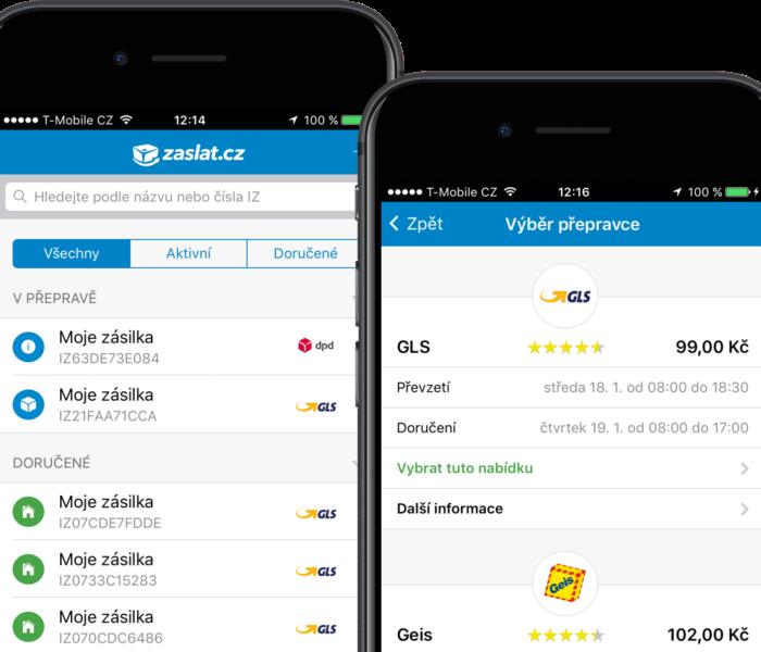 Přepravní služba Zaslat.cz spustila mobilní aplikaci pro Android a iOS
