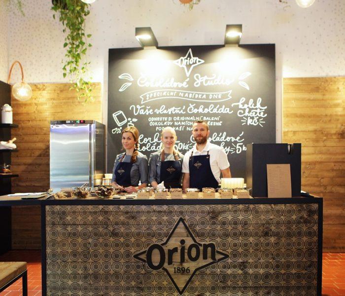 ORION představuje jedinečný koncept čokoládového studia a prémiovou řadu hořkých čokolád