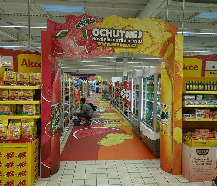 Ocenění TOP In-store realizace měsíce května 2017 získala kampaň Mirinda