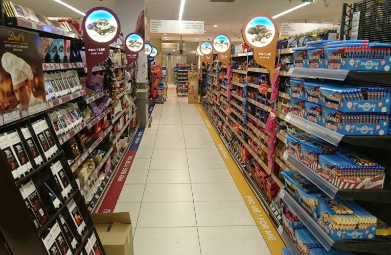 Redesign sekce cukrovinek v prodejnách Tesco