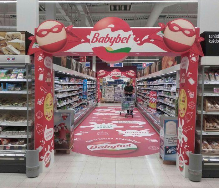 Ocenění TOP In-store realizace měsíce září 2017 získala kampaň Mini BabyBel