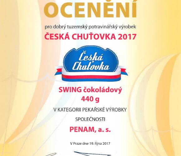 Penam získal čtyři ocenění v soutěži Česká chuťovka 2017
