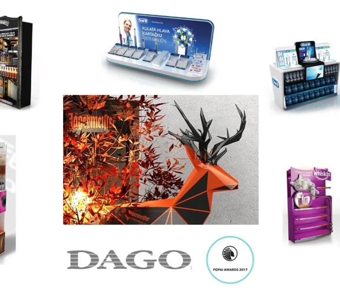 DAGO na POPAI AWARDS uspělo se šesti projekty,  z nichž Jägermeister je absolutním vítězem ročníku