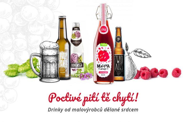 Češi si oblíbili nápoje od malých výrobců, Košík.cz jim pomáhá s cestou na trh