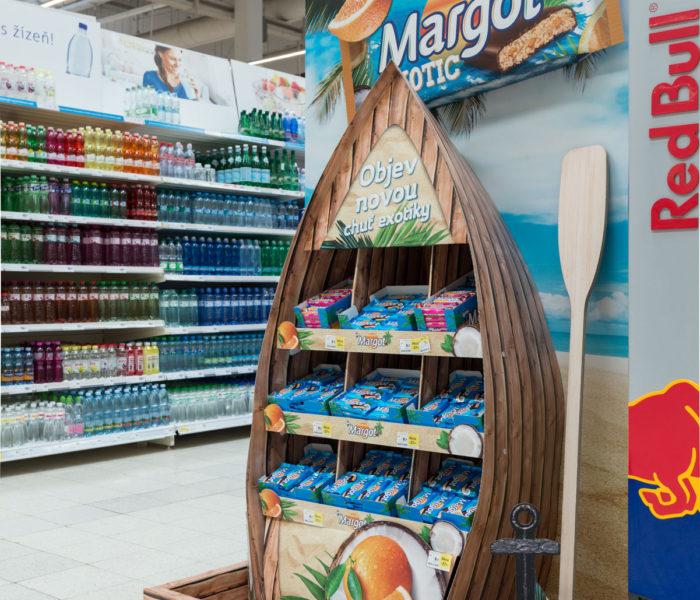 Ocenění TOP In-store realizace měsíce března 2018 získala kampaň End cap Margot Exotic