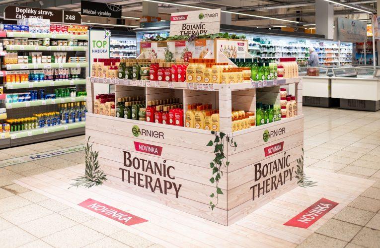 Ocenění TOP In-store realizace měsíce dubna 2018 získala kampaň Paletové vystavení GARNIER Botanic Therapy