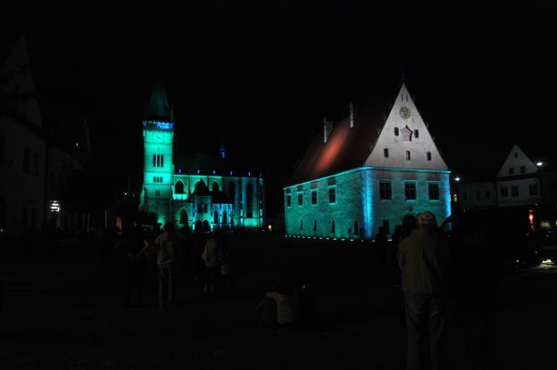 Signify nasvítil budovu původní bardejovské radnice a baziliky minor svatého Egídía