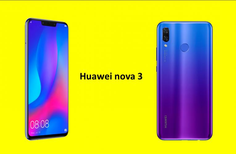 Přichází nový Huawei nova 3