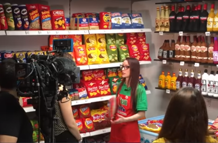 Americký obchod s plyšovým potravinářským zbožím