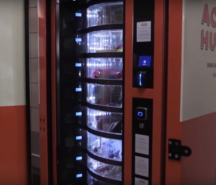 Výdejní automat pro bezdomovce