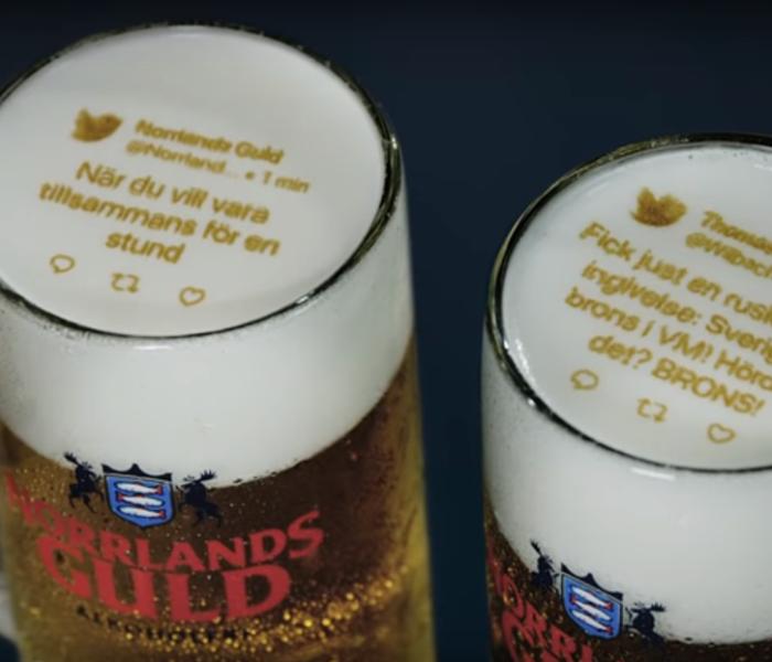 Švédská POS vychytávka na pivní pěně