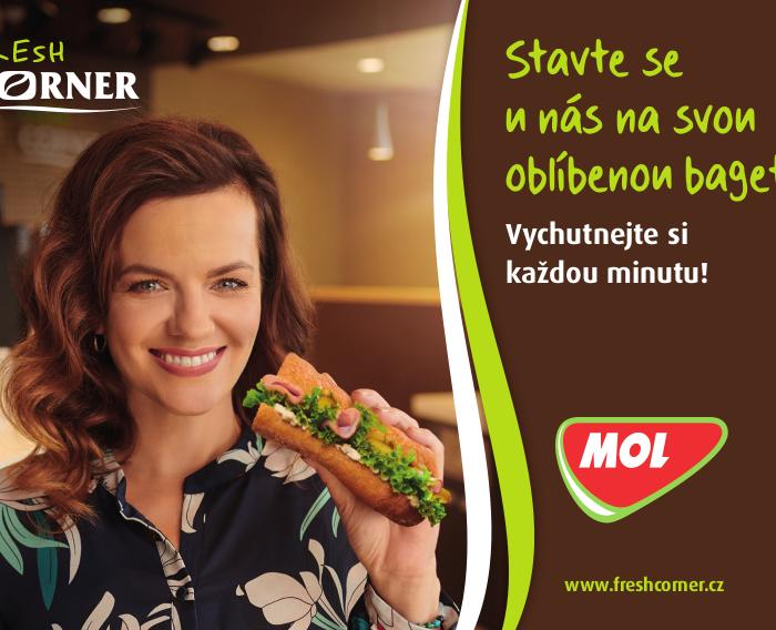 Novou tváří kampaně Fresh Corner MOL Česká republika je Marta Jandová