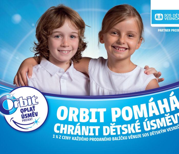 Značka Orbit již potřetí podpoří SOS dětské vesničky