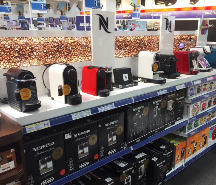 Nestlé a Dago vylepšují v Electroworldu prezentaci kapslové kávy