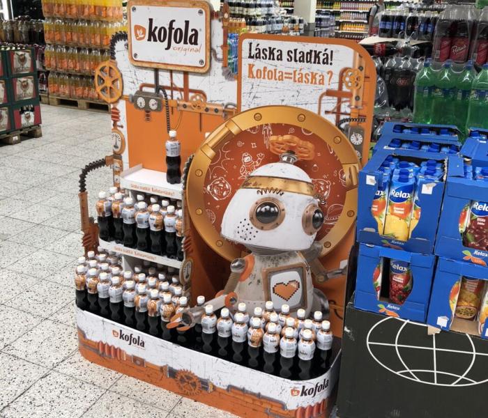 Ocenění TOP In-store realizace měsíce srpna 2018 získala kampaň Jednopaletové vystavení Kofola