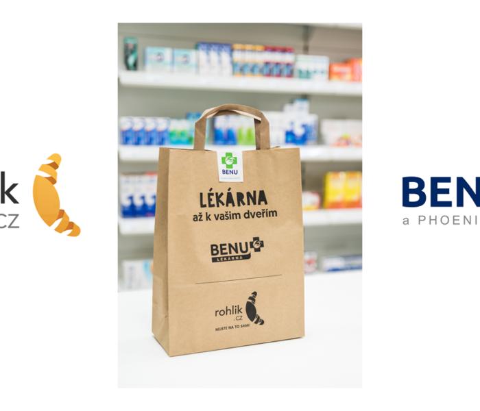 Léky a potraviny až domů již do dvou hodin od objednání díky unikátní spolupráci portálu Rohlík.cz a BENU Lékárny