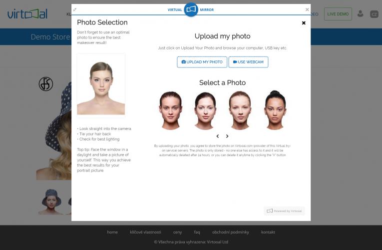 S virtuálním zrcadlem Virtooal.com získává online nakupování poslední výhodu kamenných obchodů