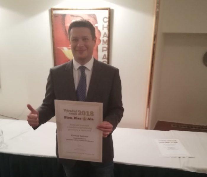 Pivovar Samson získal ocenění za modernizaci