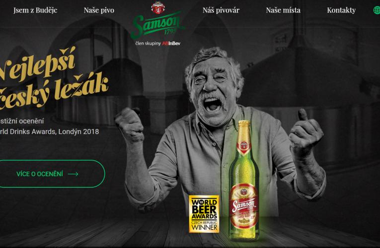 Web Pivovaru Samson zvítězil v uznávané soutěži