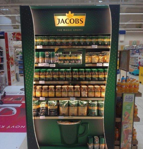 Ocenění TOP In-store realizace měsíce října 2018 získala kampaň Světelný rámeček s kapslemi Jacobs