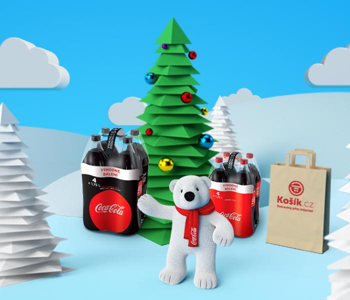 Coca-Cola merchandise před Vánoci exkluzivně online na Košíku