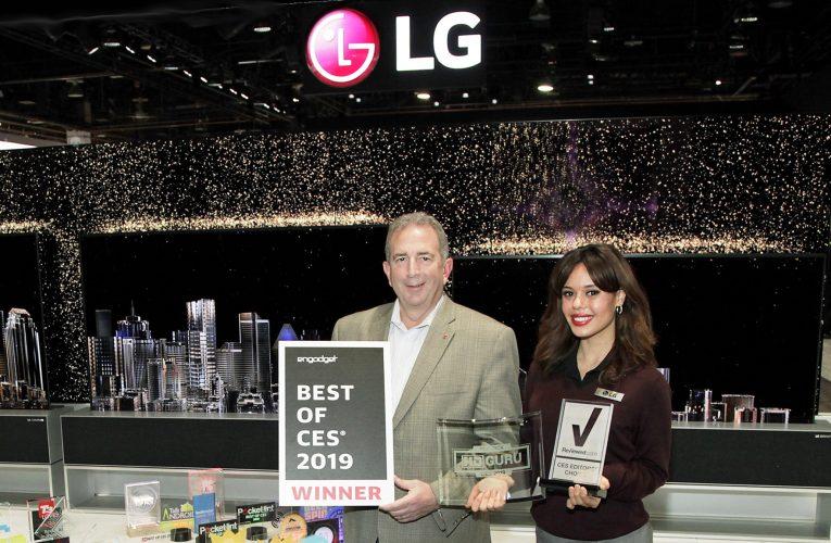 Společnost LG získala na CES více než 140 ocenění a vyznamenání napříč různými kategoriemi