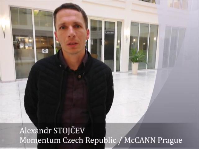 VÝROČNÍ ANKETA portálu – díl 13. – Alexandr Stojčev – Momentum Czech Republic/McCANN Prague