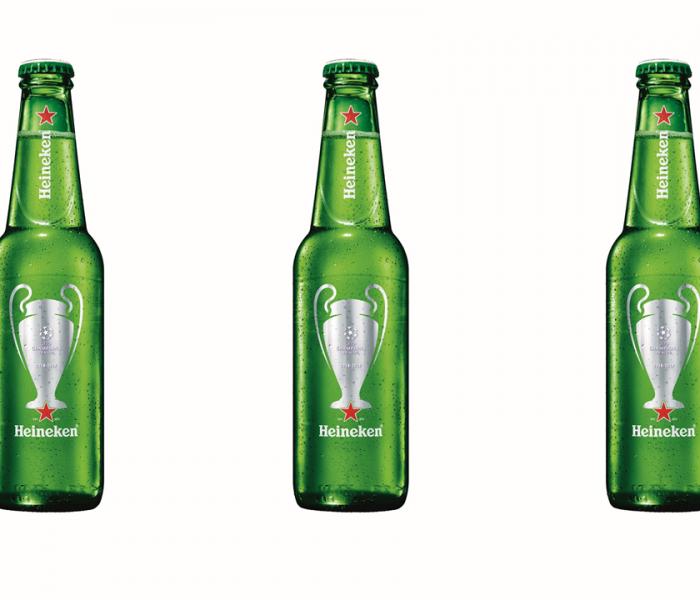 Značka Heineken připravila limitovanou edici lahví s UEFA etiketou