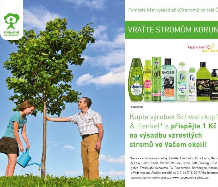 Česká republika se již počtvrté zazelená stromy díky  spolupráci společností ROSSMANN a Henkel