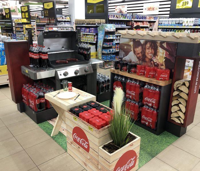 Interaktivní shop-in-shop pro kampaň Grilujeme s Coca-Colou