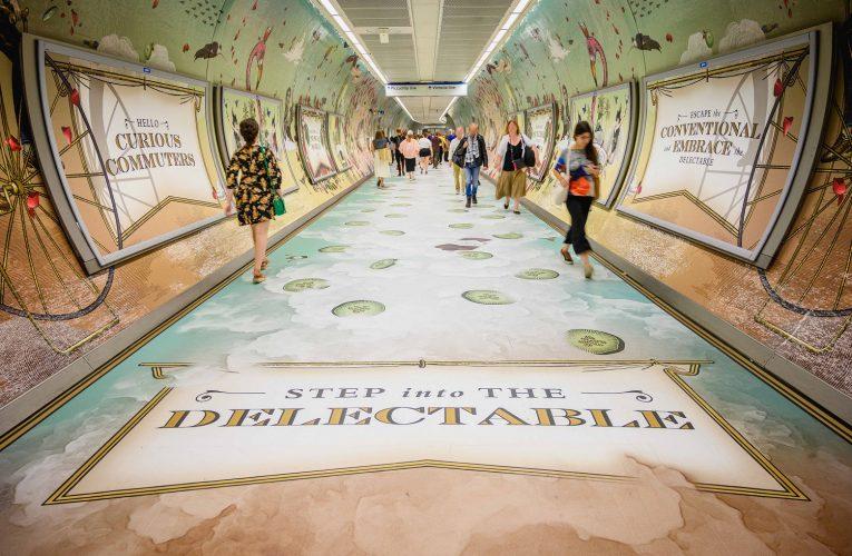 Voňavá aktivace ginu Hendrick´s vlondýnské stanici metra KING'S CROSS