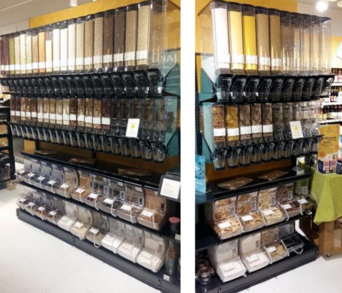HL Display vybavuje ekologickými násypníky další prodejnu – BioDay v OC Arkády na Praze 4