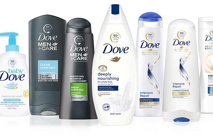 Značka Dove začne používat 100% recyklované plastové lahve a její světoznámé krémové tablety budou zcela bez plastu