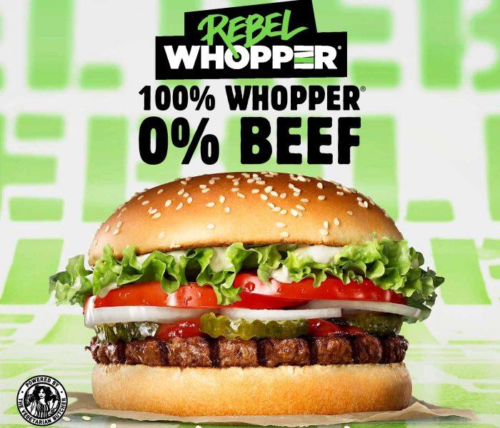 Burger King uvádí Rebel Whopper