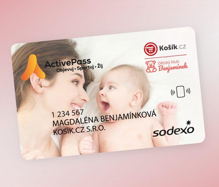 Košík.cz se Sodexo exkluzivně nabídne kartu Active Pass všem členům dětského klubu Benjamínek