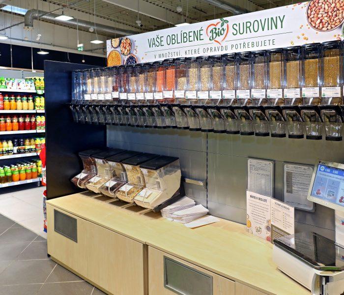 Albert myslí ekologicky – testuje bezobalový prodej potravin